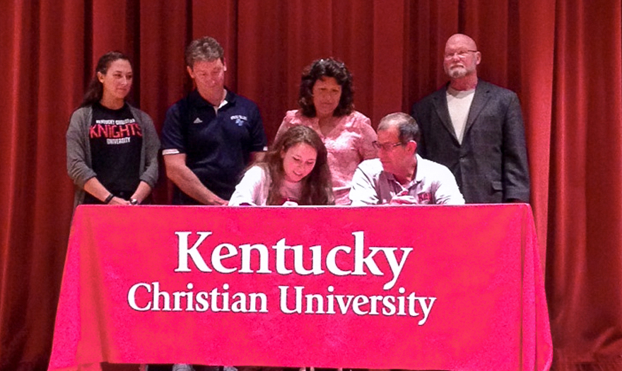 Photo for Smith Signs with Lady Knights Soccer