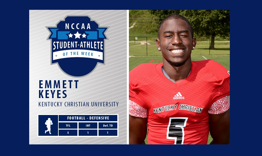 Photo for KCU Football's Emmett Keyes Receives Recognition