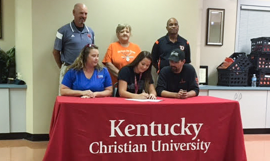 Photo for Haley Hope Signs with Knights Softball