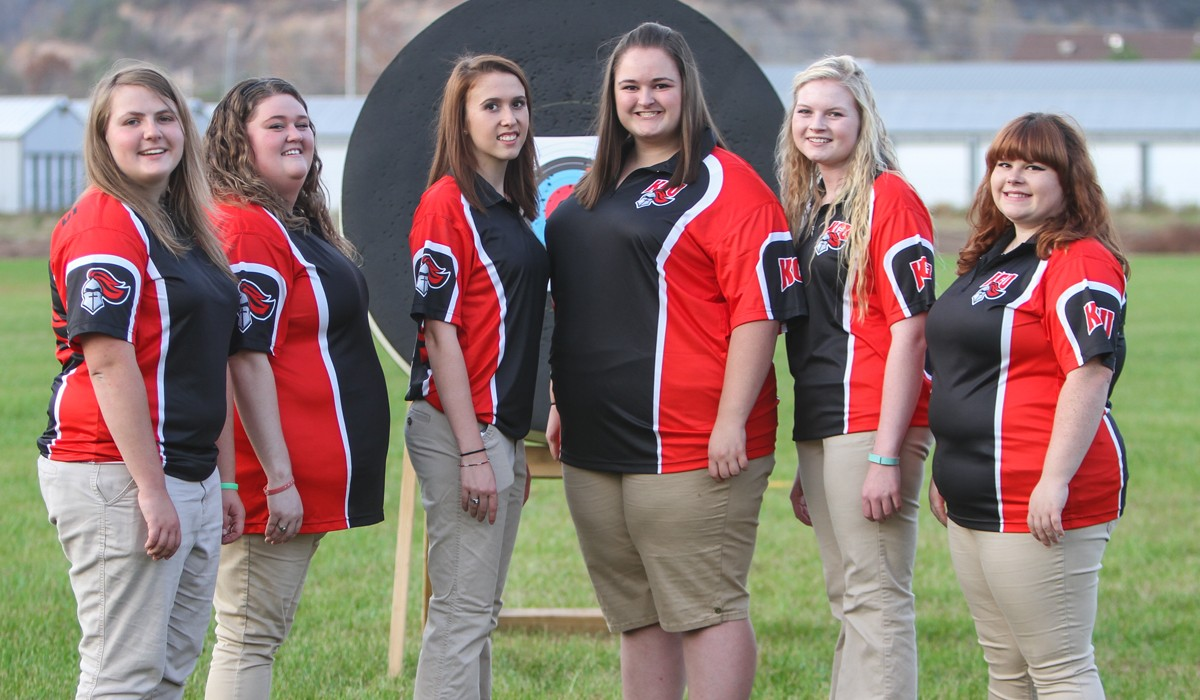 2016-17 Women's Archery Team Photo